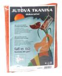 Jutová tkanina - 1,3 x 1 m oranžová
