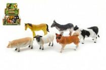 Zvířátka domácí farma plast 11cm - mix variant či barev