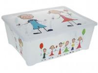 box úložný 43x36x16cm s víkem plastový, dětský