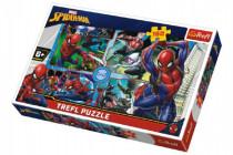 Puzzle Spiderman zachraňuje Disney koláž 41x27,5cm 160 dílků