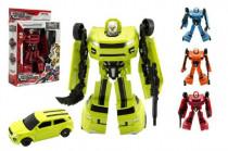 Transformer auto/robot plast 18cm - mix barev