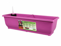 Truhlík samozavlažovací TORENIE plastový fialovo růžový 80cm - VÝPRODEJ