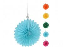 dekorace závěsná PÁRTY 15cm papírová (5ks) - mix barev