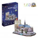 Puzzle 3D Notre Dame de Paris / led - 144 dílků
