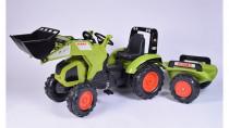 Traktor šlapací Claas Axos 330 zelený s přední lžící a valní