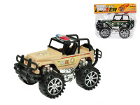 Jeep vojenský 27 cm na setrvačník - mix barev