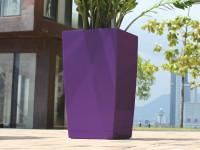 Samozavlažovací květináč GreenSun ICES 12x12 cm, výška 23 cm, fialový