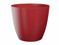 Obal na květník ELLA plastový červený lesklý d25x22cm