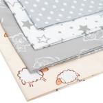 Povlak na kojící polštář ve tvaru C New Baby Ovečky béžový - VÝPRODEJ