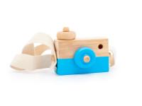 Foťák - dřevěná montessori hračka, modrá
