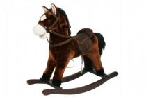 Kůň houpací hnědý plyš výška 71cm nosnost 50kg