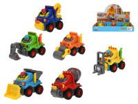Auto stavební veselé pohyblivé části na setrvačník - mix variant či barev