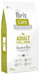 Brit Care Dog Adult Small Breed Lamb & Rice NOVÝ 3 kg