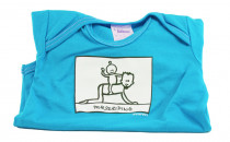 Dětské body Mayaka s krátkým rukávem Horseriding - tyrkysové Vhodné pro věk 6-12 měsíců - VÝPRODEJ