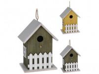 budka ptačí zahnizďovací 12x16x23cm dřevěná - mix barev