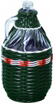 demižon opletený 3l - mix barev - VÝPRODEJ