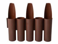 Palisáda IPFOL-BROWN plastová hnědá 2,7x0,16m 10ks