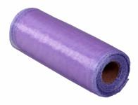 Stuha ORGANZA obšitá fialová šířka 15cm délka 9m