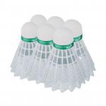 Spokey Shoot Green badmintonové míčky 6ks nylonové