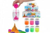 Písek vodní kouzelný 6 barev v plastové dóze