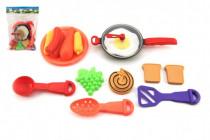 Pánev s nádobím a doplňky plast 16ks - mix barev - VÝPRODEJ