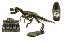 Vejce dinosaurus 3D kostra plast 18cm asst - mix variant či barev