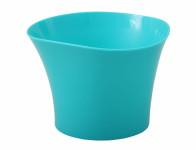 Obal na květník PRIMULE plastový modrý d12x9cm