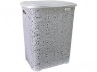 koš na špinavé prádlo MONAKO 57x45x38cm plastový, ŠE metalíza