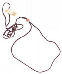 Vodítko nylon předváděcí - hnědé B&F 0,3 x 140 cm