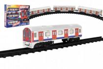 Metro/vlak/tramvaj plast s kolejemi na baterie se světlem se zvukem - VÝPRODEJ