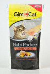 Gimcat Nutri pockets losos a omega3+6 60g - VÝPRODEJ