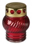 Svíčka sklo červená - koule 30 g  (230CS1039)