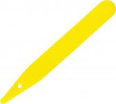 Jmenovka zapichovací L 6 žlutá 15x1,7 cm rovná - 100 ks