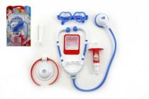 Sada doktor se stetoskopem plast na kartě