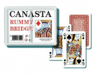 Canasta společenská hra - karty 108ks v plastové krabičce