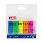 Záložky plastové, 45x12 mm, mix neón 5 barev á 25 ks