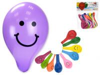 """Balonek nafukovací 9"""" potisk Smile 10cm karneval"""