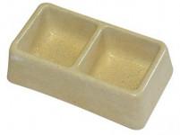 miska dvoumiska čtverce 165x90x50mm (malá) beton (50) - VÝPRODEJ