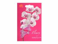 Klips FLEURY plastový růžový 4cm 2ks