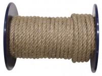 šňůra přírodní 6mm stáčená s PP (100m)