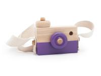 Foťák - dřevěná montessori hračka, fialová