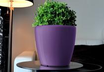 Samozavlažovací květináč GreenSun AQUAS průměr 22 cm, výška 21 cm, fialový