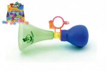 Klakson trumpeta na kolo plast 14cm - mix barev