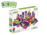 BiOBUDDi stavebnice Learning To Create Young Ones 58 ks + 2 ks základní deska