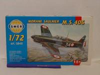 Model Morane Saulnier MS 406 11x14,7cm