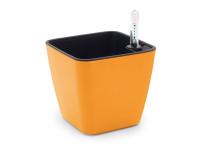 Designový samozavlažovací květináč pro všechny typy rostlin, GreenSun 13x13cm, oranžový