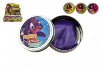 Hmota/modelína 50g inteligentní skákací 8cm mix barev v plechové krabičce - mix variant či barev