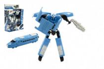 Transformer vlak/robot plast 17cm - mix barev