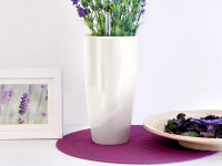 Samozavlažovací květináč GreenSun LIQUIDS průměr 43 cm, výška 81 cm, bílý
