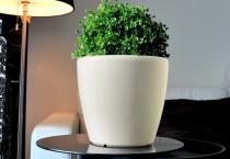 Samozavlažovací květináč GreenSun AQUAS průměr 35 cm, výška 34 cm, bílý